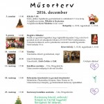 Műsorterv 2016  December